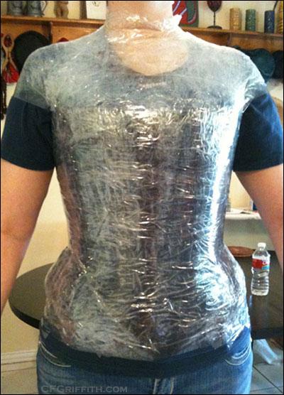 Pre-cut tape dressform