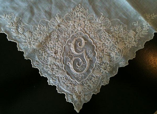 whitework handerchief